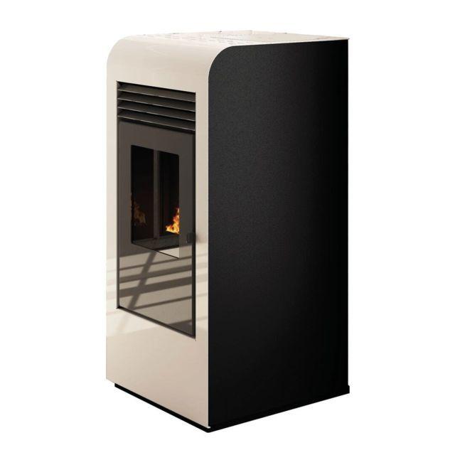 Sannover Thermique Poêle à granulés air Giada 8kW Blanc Sannover