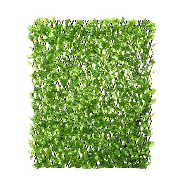 jardin artificiel treillis extensible en bois de saule feuillage artificiel lierre clair pas. Black Bedroom Furniture Sets. Home Design Ideas