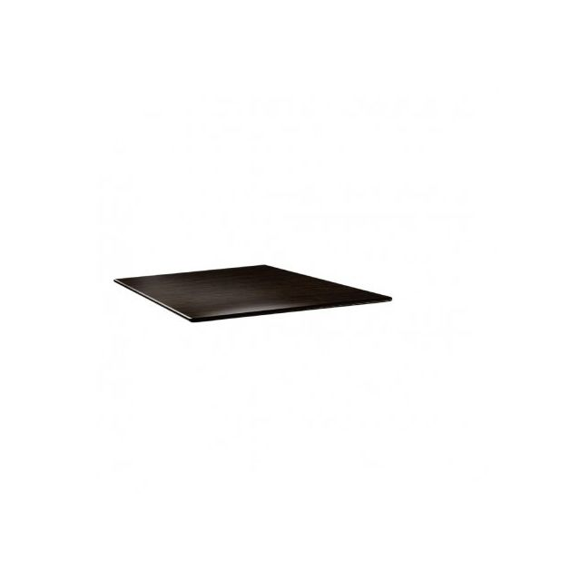 Topalit Plateau de table 70 cm carré - Smartline wengé - Wengé 700 mm