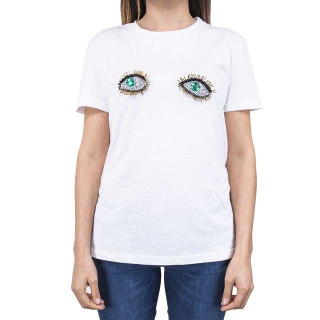 Dixie Femme T593L1051100 Blanc Coton T-shirt