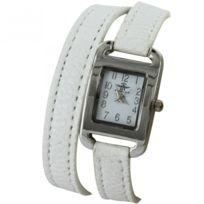 0e70d3fdbd62 Montre femme bracelet blanc - catalogue 2019 -  RueDuCommerce ...