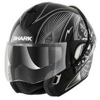 Shark - casque intégral modulable en jet Evoline 3 Mezcal Kuk moto scooter noir gris brillant M