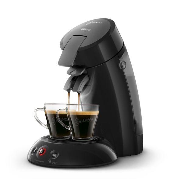 PHILIPS Machine à café à dosettes Senseo - HD6554/61 - Noir