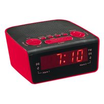 Clip Sonic - Radio réveil Pll Rouge - Ar314R Clipsonic