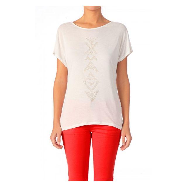 T shirt ample à sequins réversibles Guess en blanc