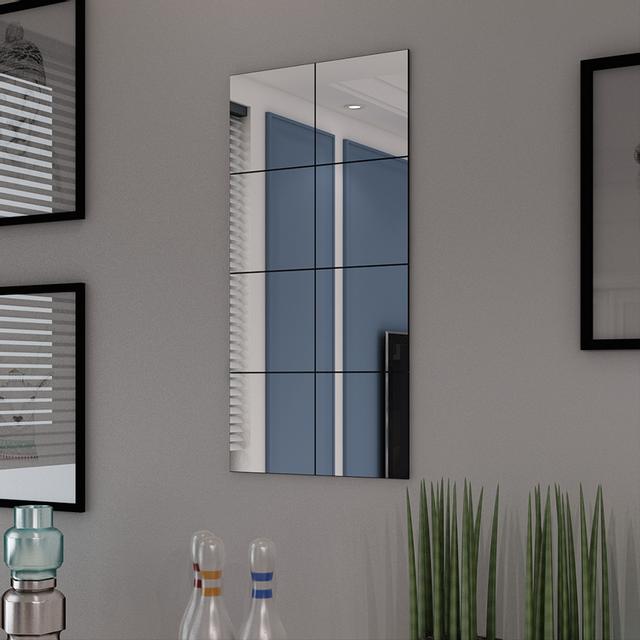 vidaxl carreaux de miroir verre sans cadre 8 pcs 20 5 cm pas cher achat vente miroirs. Black Bedroom Furniture Sets. Home Design Ideas