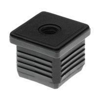 Gem - Embout à ailettes tube carré percé fileté M10