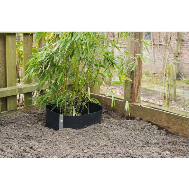 Accessoires de jardinage Admirable Feuille de barrière de racine Nature 0,7 x 5 m HDPE Noire 6030227