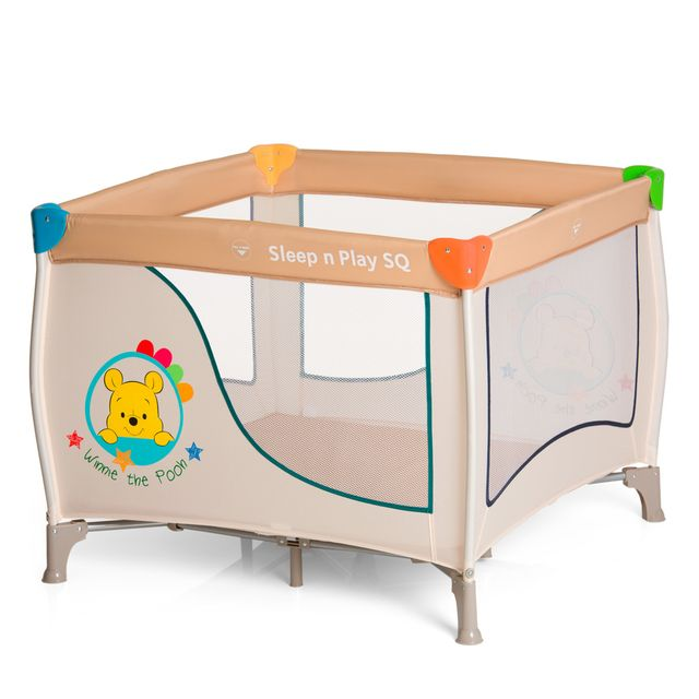 disney lit parapluie sleep and play sq pooh ready to play beige pas cher achat vente lit. Black Bedroom Furniture Sets. Home Design Ideas