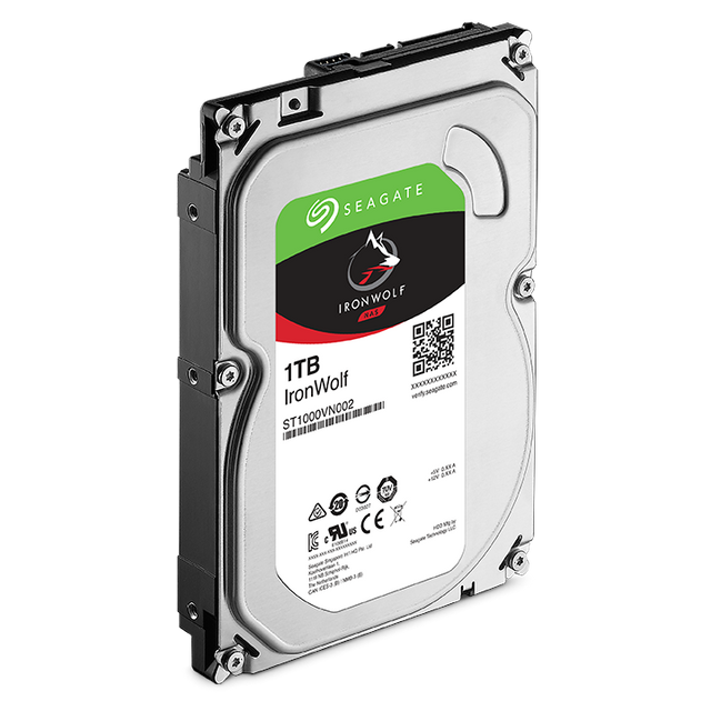 "SEAGATE - Disque dur interne IronWolf 1 To 3.5"" 7200 RPM 64 Mo Serial ATA 6 Gb/s pour NAS"