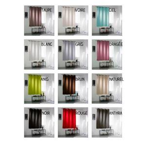 sans marque rideau occultant oeillets 140 x 180 cm cocoon diff rents coloris anis. Black Bedroom Furniture Sets. Home Design Ideas