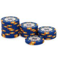Pokeo - Rouleau 25 jetons Grimaud PokerMaster 50 bleu
