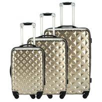 M6 Boutique - Set 3 valises Nouvelle Génération Champagne - Produit original vu à la Tv