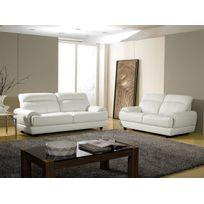Canape cuir blanc design Achat Canape cuir blanc design pas cher