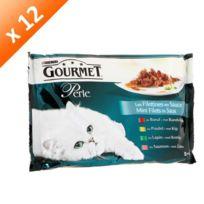 Gourmet - Perle Duo de viande pour chat 4 x 85g -12