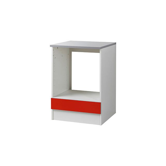 Meuble four L60xH86xP60cm - rouge
