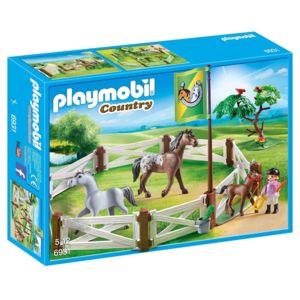 playmobil 6931 country enclos avec chevaux pas cher. Black Bedroom Furniture Sets. Home Design Ideas