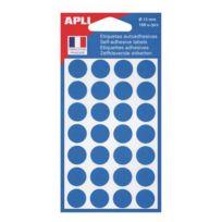 Agipa - Pastilles adhésives Ø 15 mm 11184 bleues - Pochette de 168