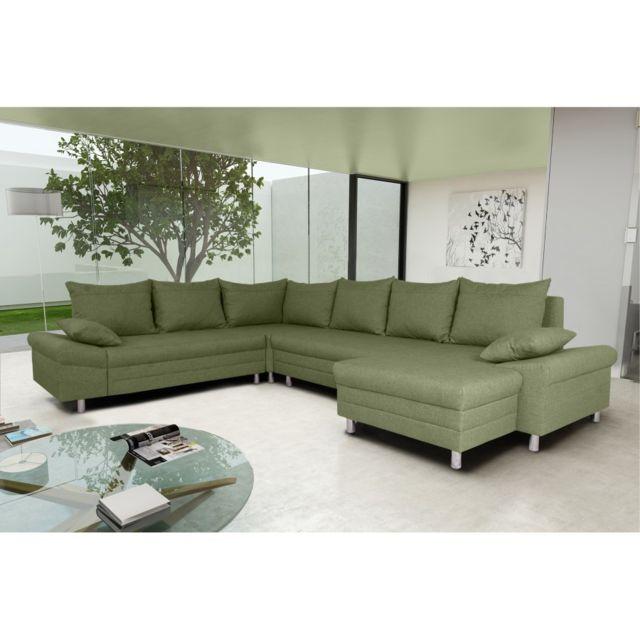 Rocambolesk Canapé Bacau 2A2FL Pano sawana 08 vert angle droit sofa divan