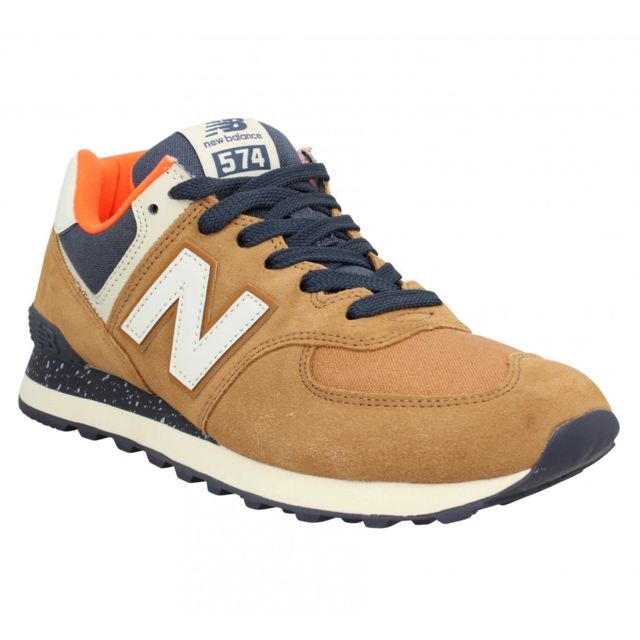 basket new balance homme marron