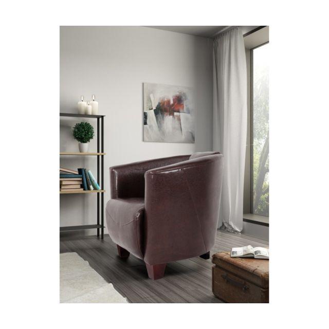 Rocambolesk Fauteuil Havana 1 Bycast marron sofa divan