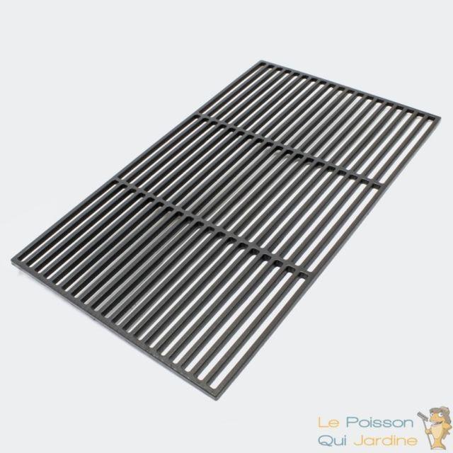 LE POISSON QUI JARDINE Grille de barbecue Rectangulaire en Fonte 45 x 35 cm