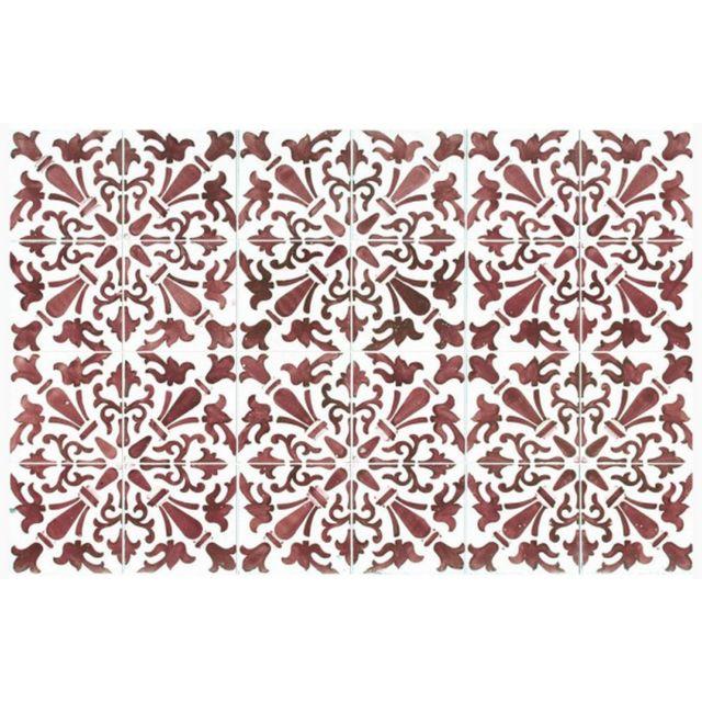 MOSAIKO - tapis de cuisine 66x150cm rouge - 40023 - pas cher Achat ...