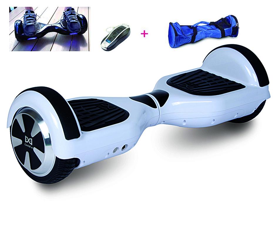 COOL&FUN Hoverboard, Scooter électrique Auto-équilibrage,gyropode 6,5 pouces Blanc