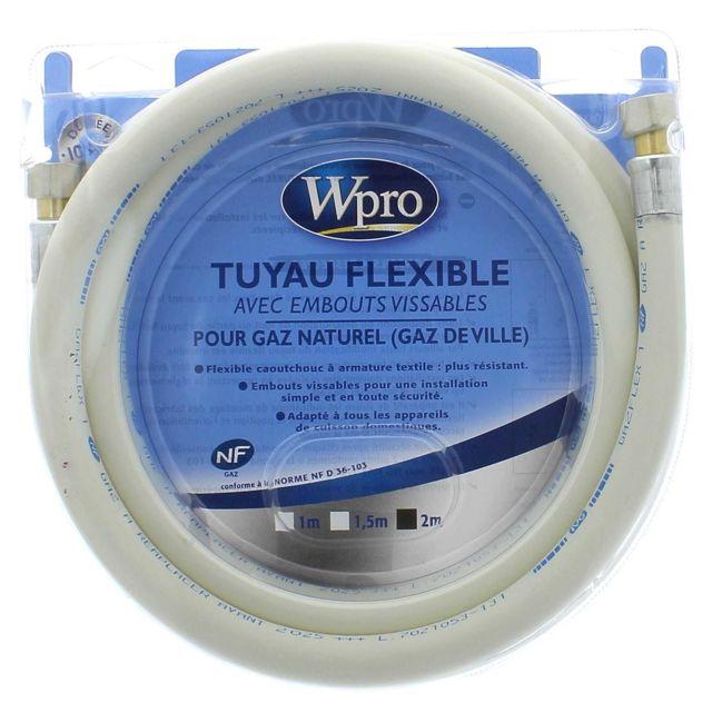 Wpro Tuyau gaz naturel 2m 10ans pour Cuisiniere Accessoire, Cuisiniere