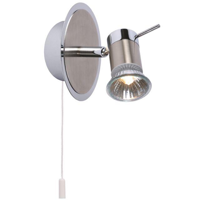 Lucide - Bikko - Spot de salle de bain avec interrupteur Inox H11 ...