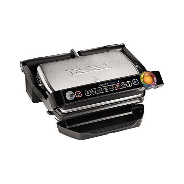 Tefal Opti Barbecue Smart avec commande automatique, affichage de la température, de l'application 6 voreingestellte Programme