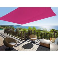 Ideanature - Voile d'ombrage rectangulaire 2,45x3,45m en polyesther 160gr/m² Ideprice - Rose