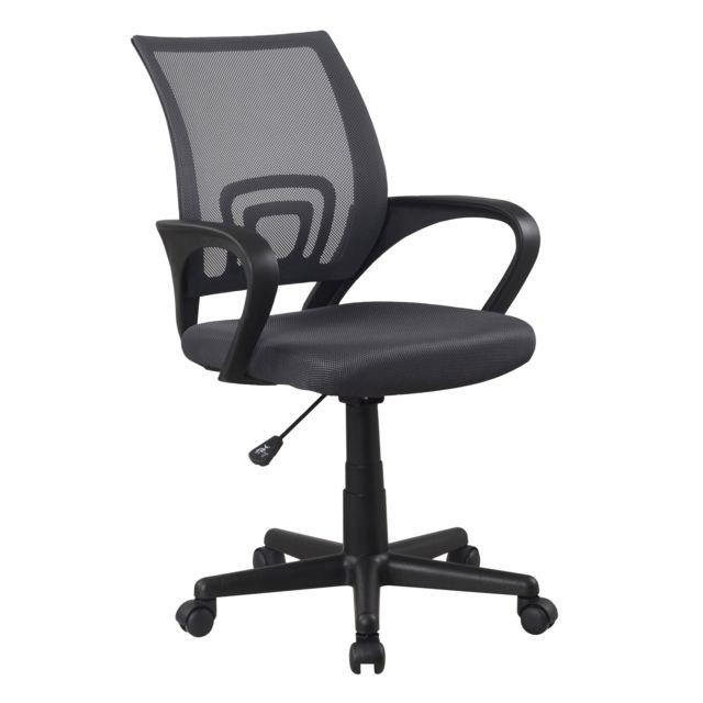 carrefour home fauteuil de bureau mesh noir polyester - Chaise De Bureau Carrefour