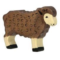 Holztiger - 80075 - Figurine - Mouton, Debout - Noir