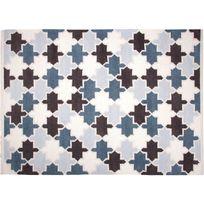 1 Pied Sur Terre - Tapis Mosaircus chambre bébé garçon par - Couleur - Bleu, Taille - 130 x 190 cm