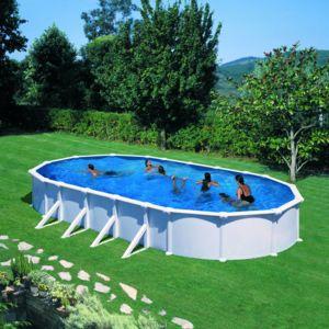Gr piscine gre d730x375 h132 acier hors sol ovale dream for Piscine hors sol ovale pas chere