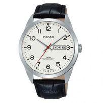 Pulsar - Montre Homme modèle Tradition Blanche et Noire - Pj6065X1 - cadeau idéal