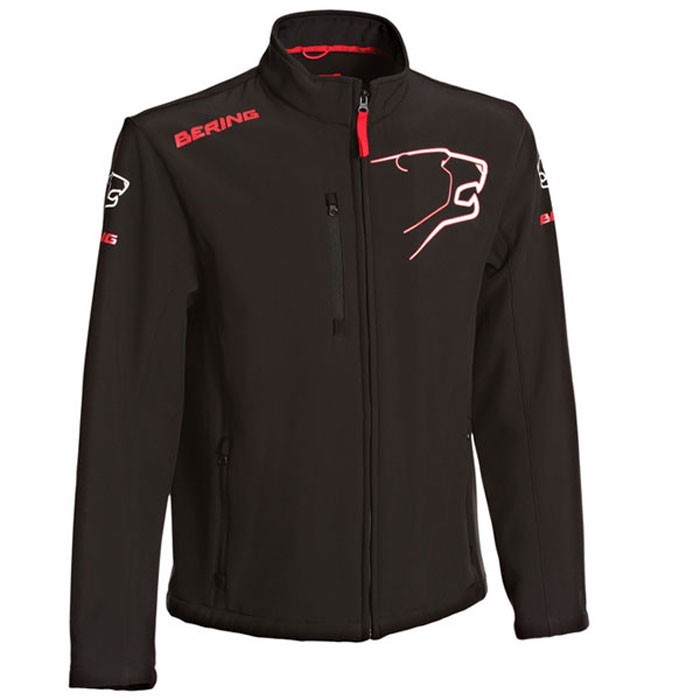 veste Softshell froid moto scooter textile Sportswear homme noir-rouge Bsg011