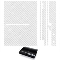 Mygoodprice - Sticker autocollant aspect carbone 3D skin pour Playstation 3 Ps3 Fat Orange