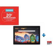 LENOVO - Tab X103F - 10,1'' IPS HD - 16 Go - Noir + Carte micro SD Ultra 16 Go100MB/s C10 UHS U1 A1 Card+Adaptateur