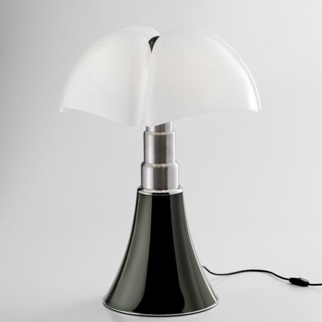 Martinelli Luce Pipistrello 4.0-Lampe Led bluetooth pied télescopique H66-86cm Titane - designé par Gae Aulenti