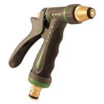 SaniFri - 470010097 Pistolet D'ARROSAGE MÉTAL Avec RevÊTEMENT Plastique Raccordement Laiton