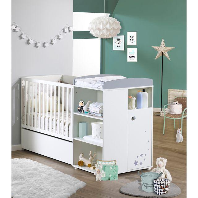 Lit Bebe Avec Plan A Langer : Tex baby chambre bébé évolutive pas cher achat vente