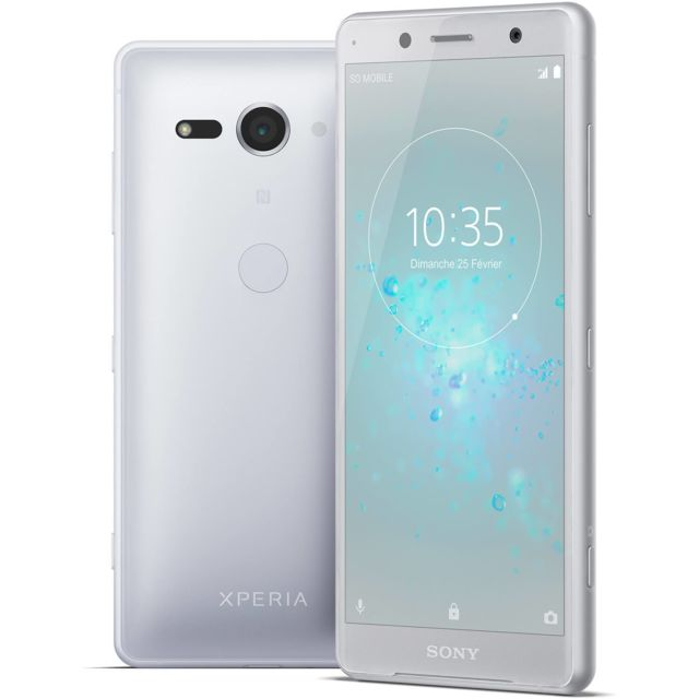 destockage sony xperia xz2 compact blanc argent pas cher achat vente smartphone. Black Bedroom Furniture Sets. Home Design Ideas