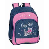 Chipie - Sac à dos scolaire 2 compartiments Love et Style bleu et rose