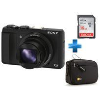 SONY - Pack Amateur HX60 + Carte SD 16GO + Housse Case Logic
