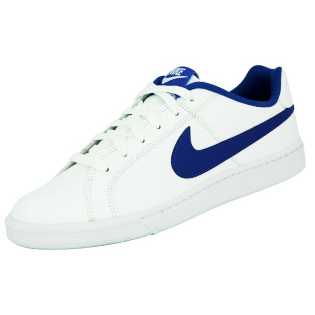 b8648244f847 Nike - Court Royale Chaussures Sneakers Homme Cuir Blanc Bleu - pas ...