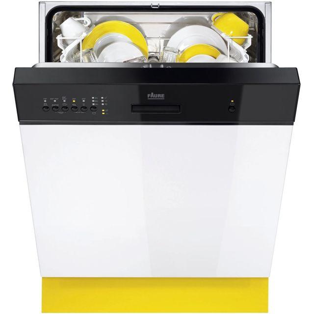 FAURE Lave-Vaisselle Intégrable FDI15004NA FDI 15004 NA, Noir