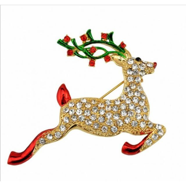 latest fashion low cost offer discounts Broche noel cerf strass femme pin up deco vetement rock