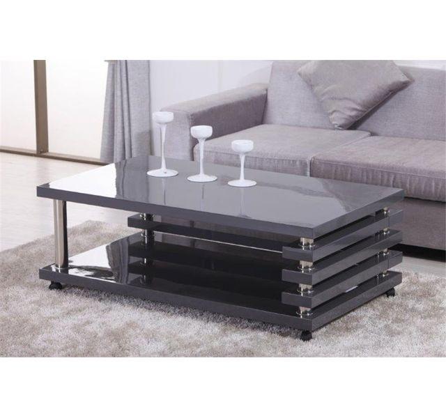 CHLOE DESIGN Table basse design NELAWA - gris